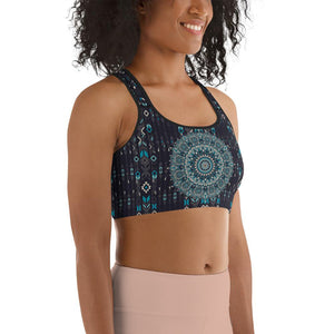 aztec-mandala-geometric-navy-blue-jade-green-padded-sports-bra-women