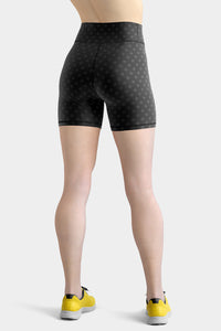 polka-dots-black-and-charcoal-gray-yoga-shorts