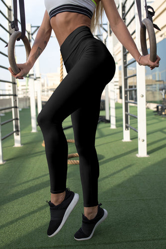 black-basic-color-yoga-leggings