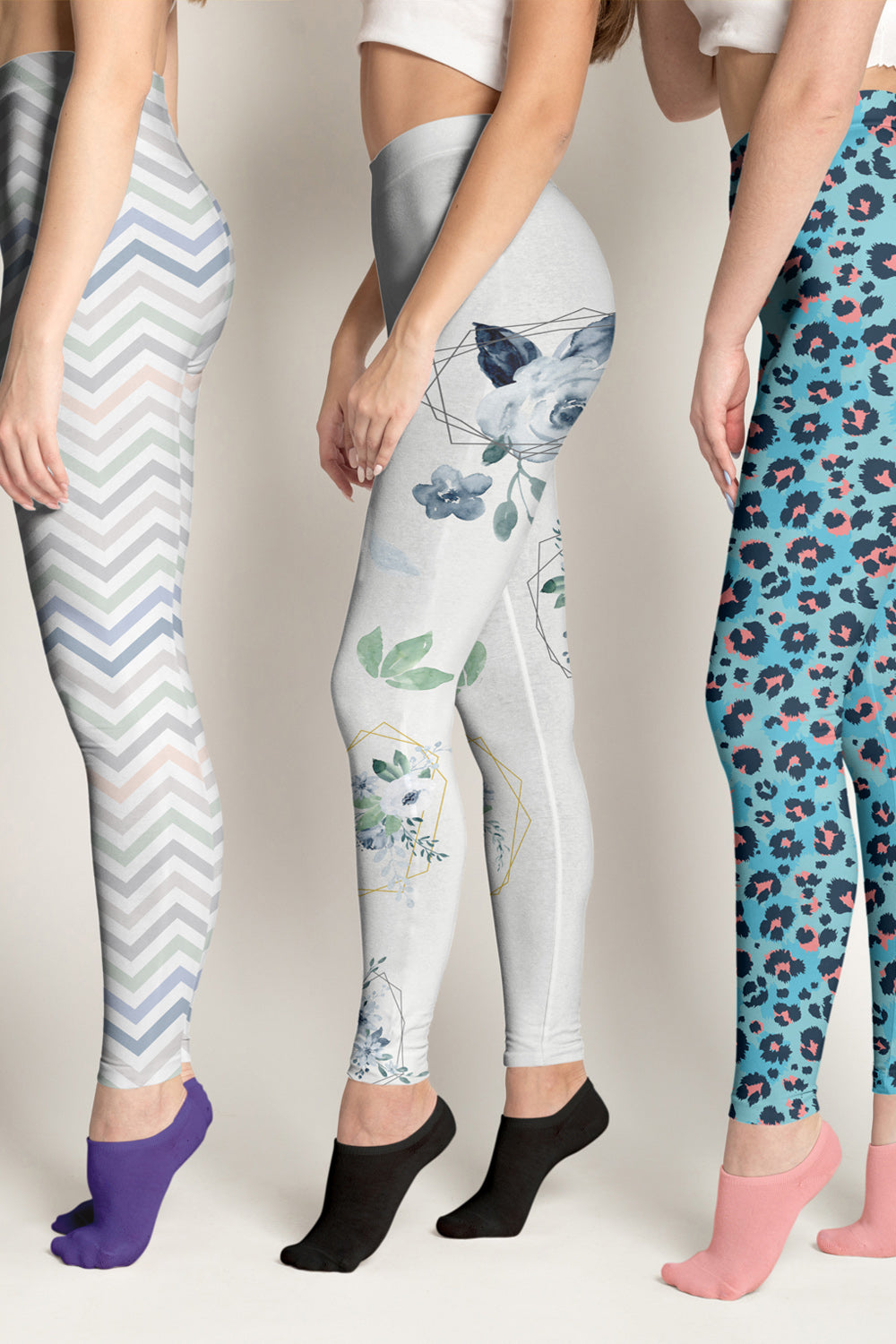 Roses-white-blue-green-gold-elegant-women-urban-leggings