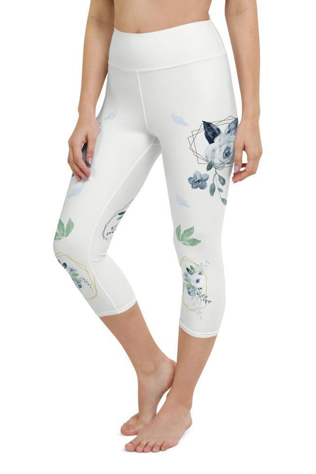 roses-floral-white-capri-leggings-for-women-1