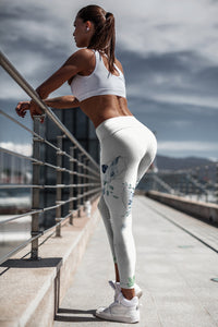 Roses-design-white-blue-green-gold-elegant-women-yoga-leggings