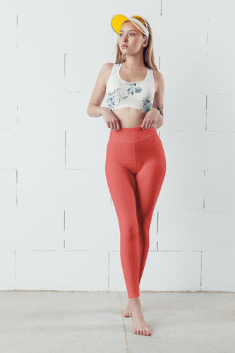 Coral Secret Yoga Leggings