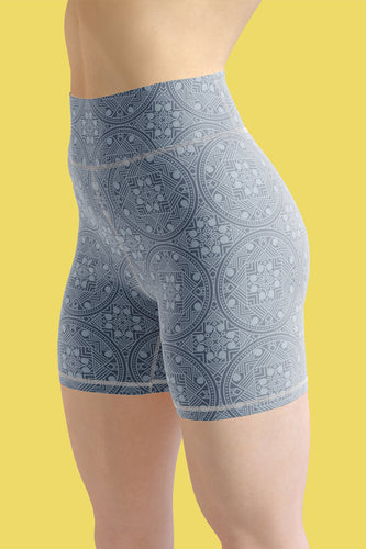 dreamin-icy-mandala-geometric-winter-yoga-shorts