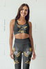 Flowers-black-grey-yellow-gold-women-padded-sports-bra