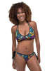 Floral and Deep Yellow Reversible Bikini