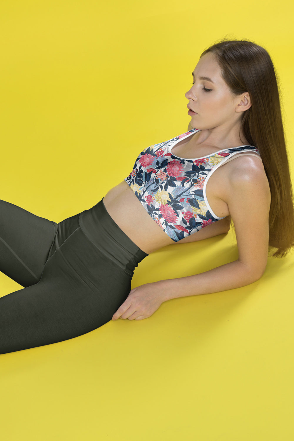 Japanese Forest Padded Sports Bra