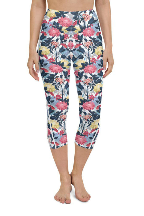 Japanese Forest Yoga Capri Leggings
