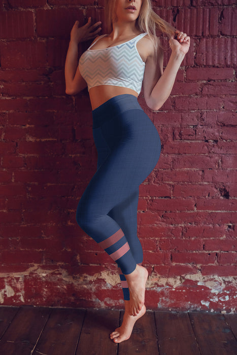 dark-blue-pink-sporty-stripes-elegant-women-yoga-leggings-all-the-time