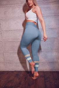 light-blue-cream-ivory-sporty-stripes-elegant-women-yoga-leggings-shop