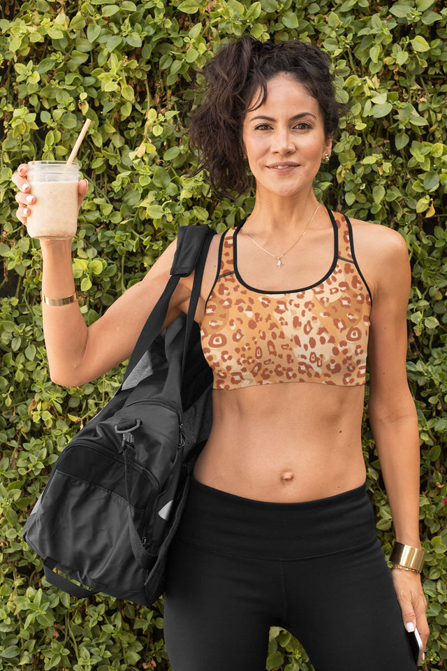 Leopard Lady Padded Sports Bra