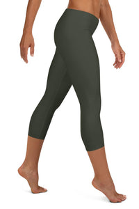 neutral-elegant-olive-green-urban-capri-leggings