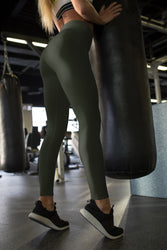 neutral-elegant-olive-green-leggings