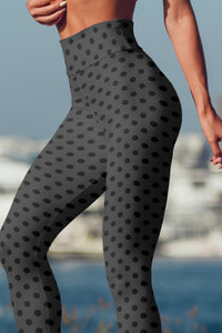 polka-dots-charcoal-gray-black-yoga-capri-leggings