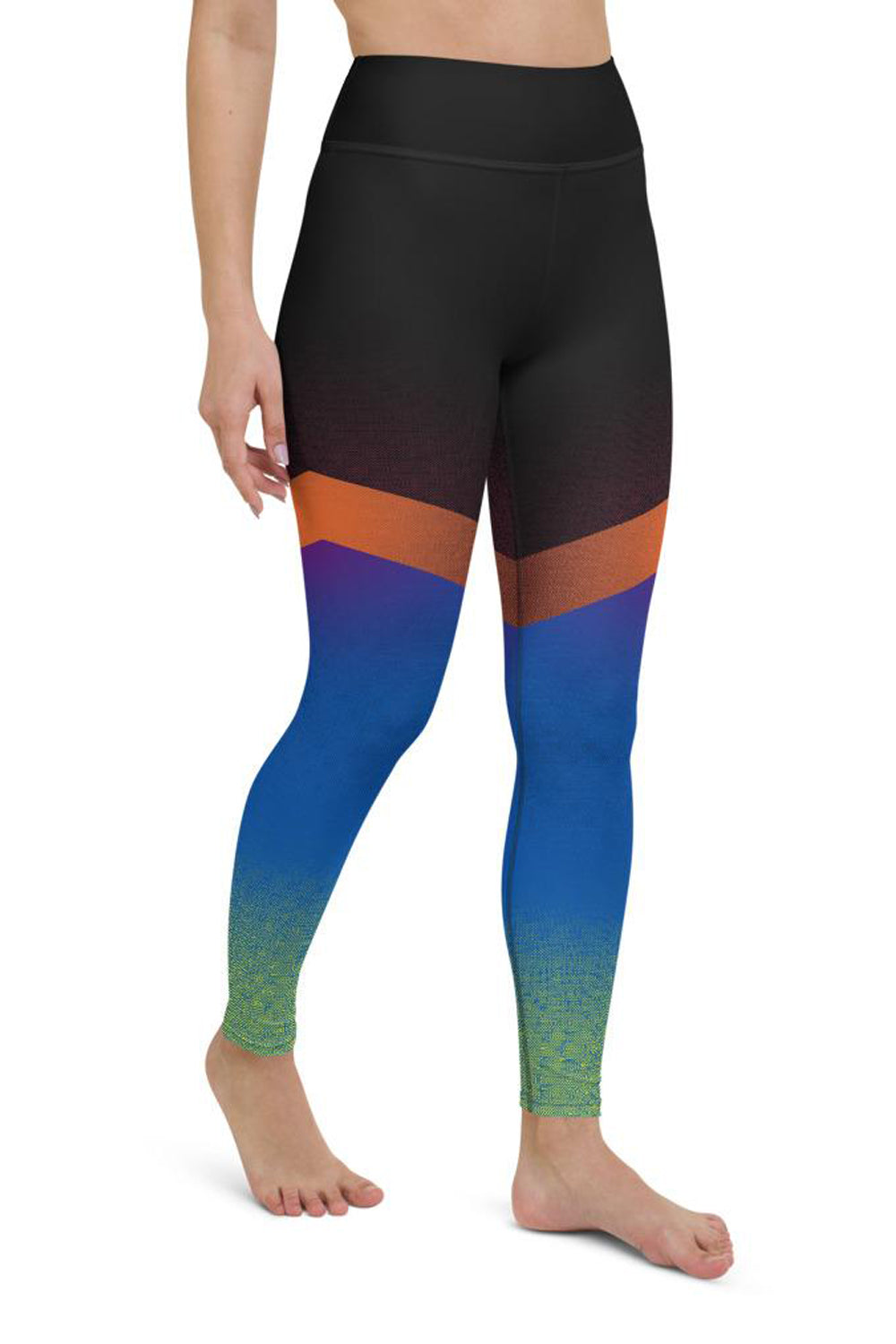Shine Blue Yoga Leggings