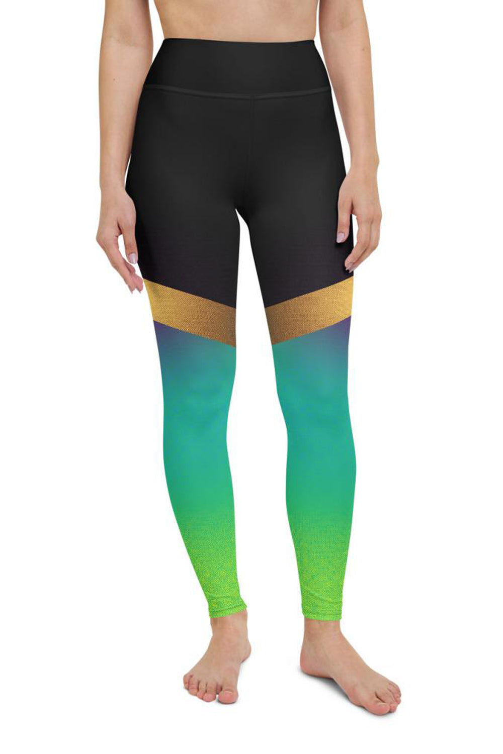 Shine Green Yoga Leggings