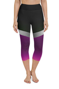 Shine Violet Yoga Capri Leggings