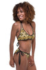 Snake Skin and Chic Purple Reversible Bikini