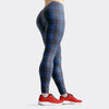 Tartan-design-navy-blue-pink-leggings-women