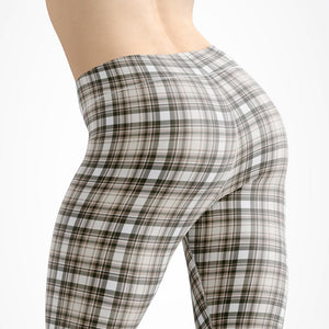 Tartan-olive-green-beige-elegant-classic-leggings-capri-autumn-women-shop