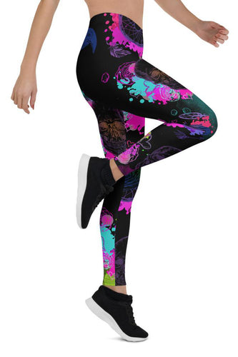 Halloween Acid Skulls Urban Leggings