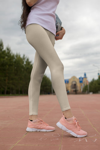 solid-sand-beige-women-elegant-youth-leggings