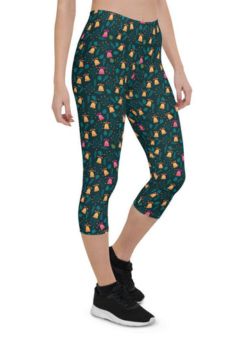 Christmas Bells Urban Capri Leggings