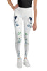 Roses-white-blue-green-gold-elegant-youth-leggings