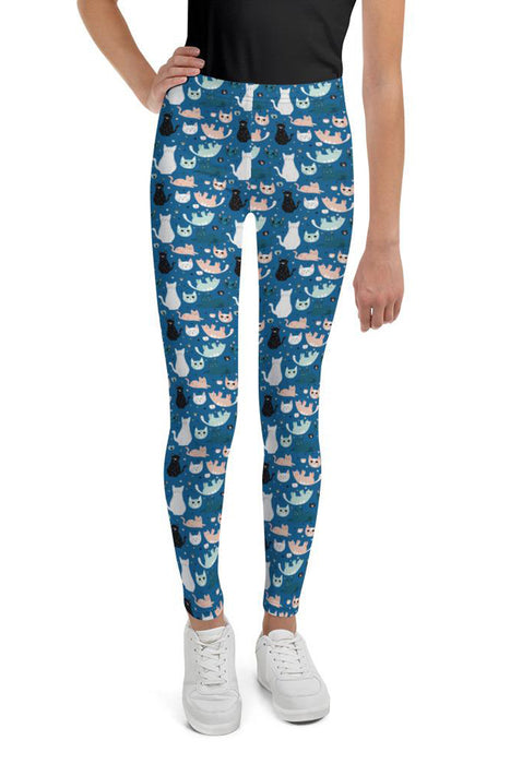 cats-blue-green-black-white-cream-youth-leggings