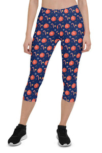 Christmas Celebration Urban Capri Leggings
