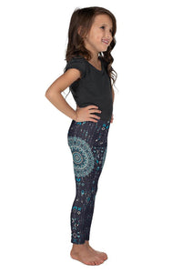chalchi-aztec-mandala-geometric-navy-blue-jade-green-kids-leggings