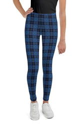 navy-blue-pink-tartan-classic-elegant-beautiful-youth-leggings-teens-girls
