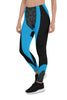 Womens Blue Cyberpunk Leggings for Yoga, Workouts, Running