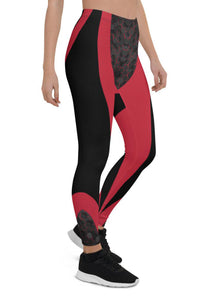 Womens Pink Cyberpunk Leggings for Yoga, Workouts, Running