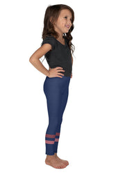 dark-blue-pink-sporty-stripes-elegant-kids-leggings