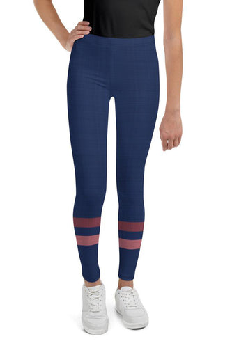dark-blue-pink-sporty-stripes-elegant-youth-leggings