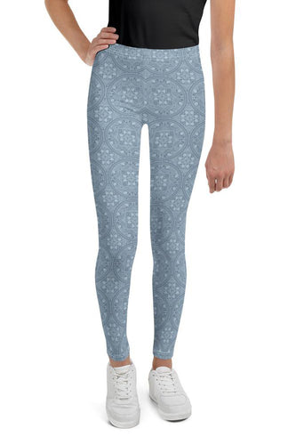 dreamin-icy-mandala-geometric-winter-youth-leggings