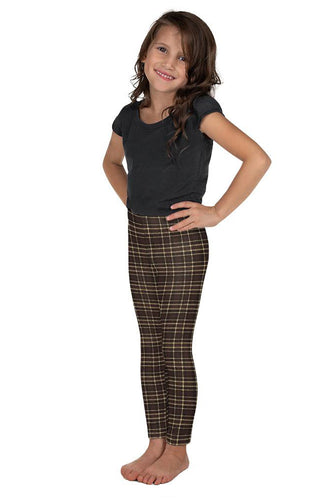 Tartan-brown-yellow-elegant-classic-leggings-kids-shop