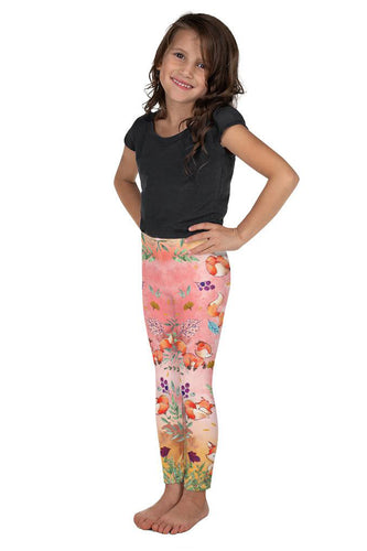 fox-cute-pink-kids-leggings-girls