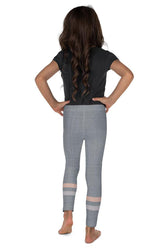 Gray-Cream-sporty-stripes-elegant-kids-leggings