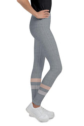 Gray-Cream-sporty-stripes-elegant-youth-leggings-shop-girls