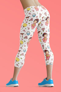 kawaii-cute-japanese-geisha-pink-kimono-urban-capri-leggings-for-women