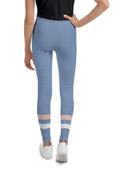 light-blue-cream-ivory-sporty-stripes-elegant-women-youth-leggings-teens