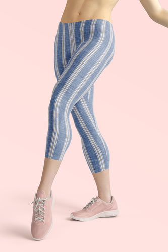 linen-print-texture-striped-light-blue-white-design-elegant-leggings-capri-women