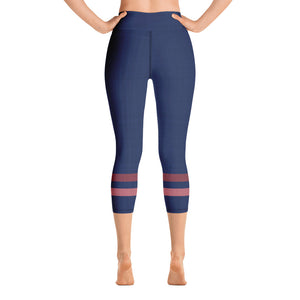 dark-blue-pink-sporty-stripes-elegant-women-yoga-capri-leggings-3