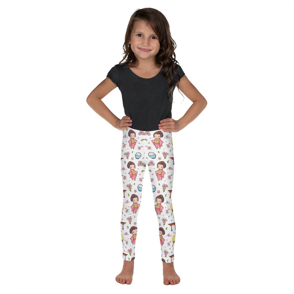 kawaii-cute-japanese-geisha-pink-kimono-kids-leggings-girls