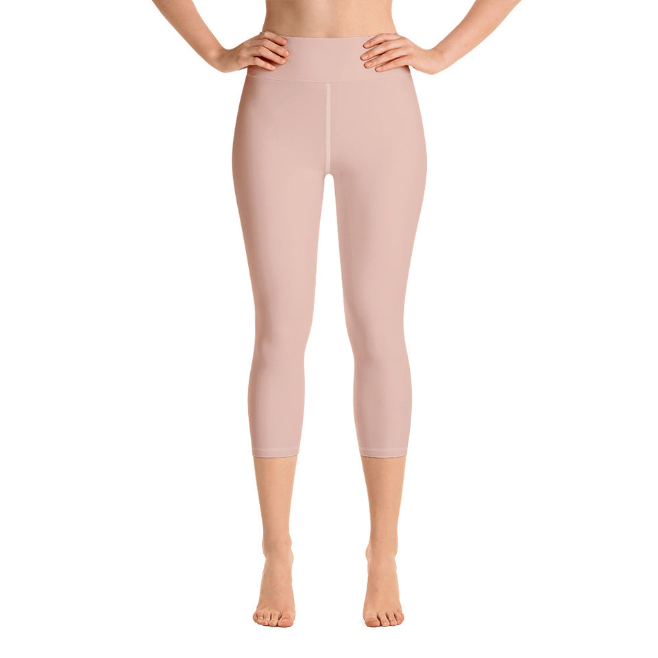 chic-peach-pink-yoga-capri-leggings-for-women