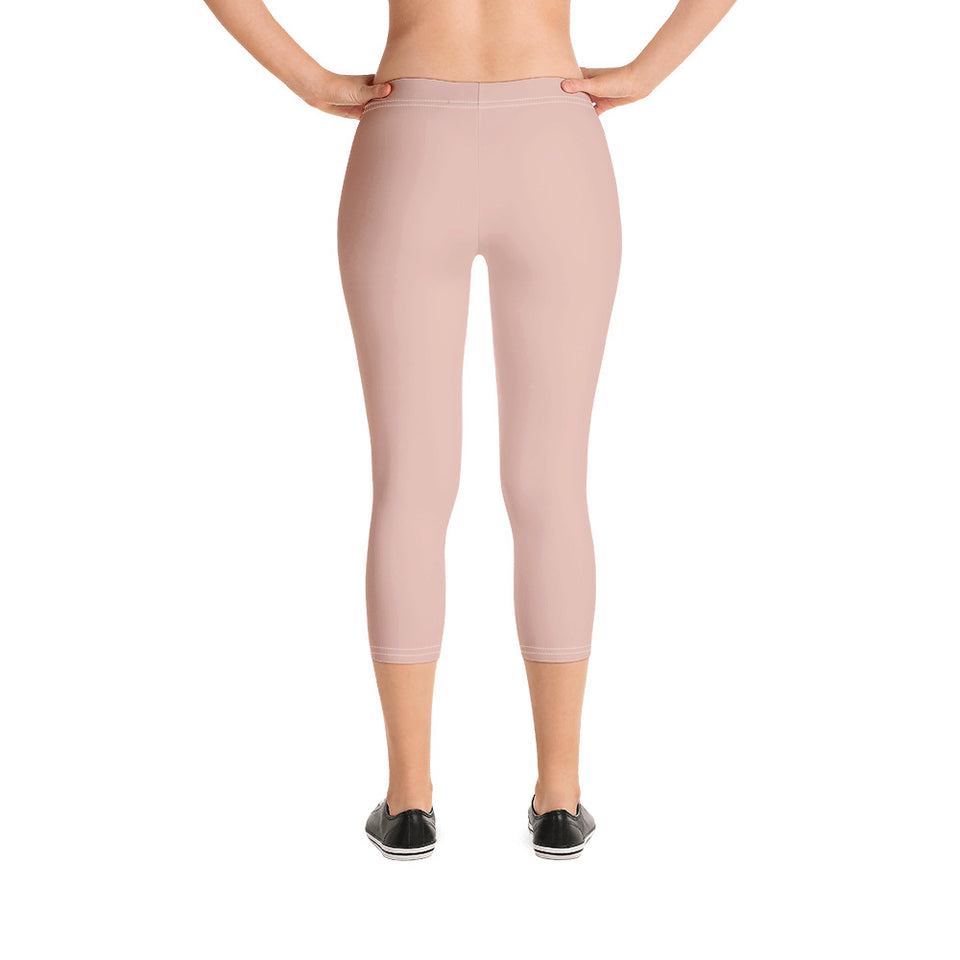 chic-peach-pink-capri-leggings-for-women