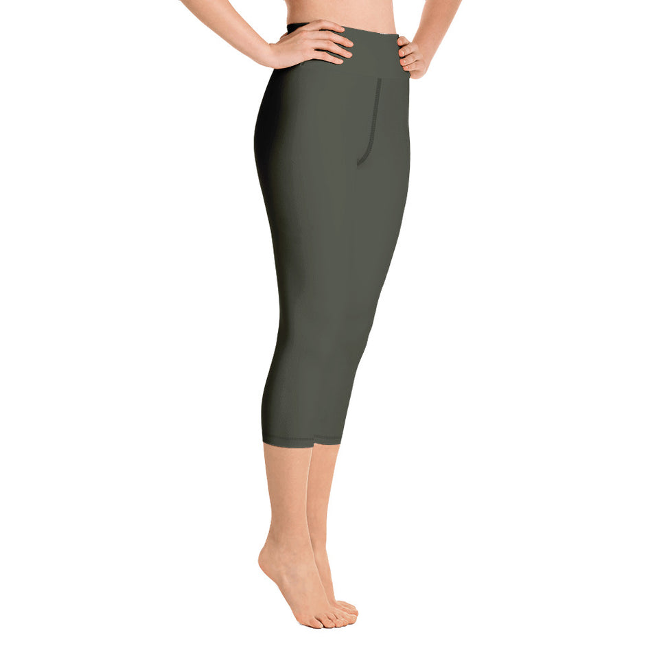 solid-women-olive-green-capri-leggings