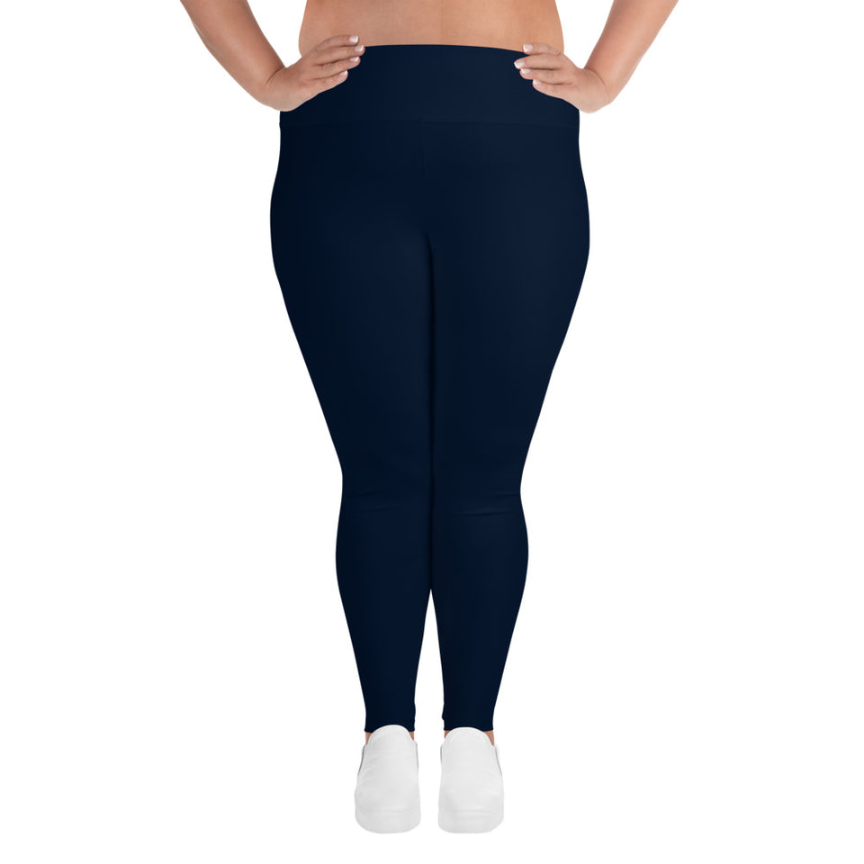 neutral-navy-blue-plus-size-leggings-women